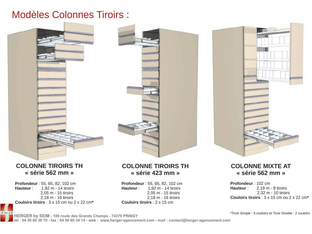 colonnes tiroirs at et th. Black Bedroom Furniture Sets. Home Design Ideas